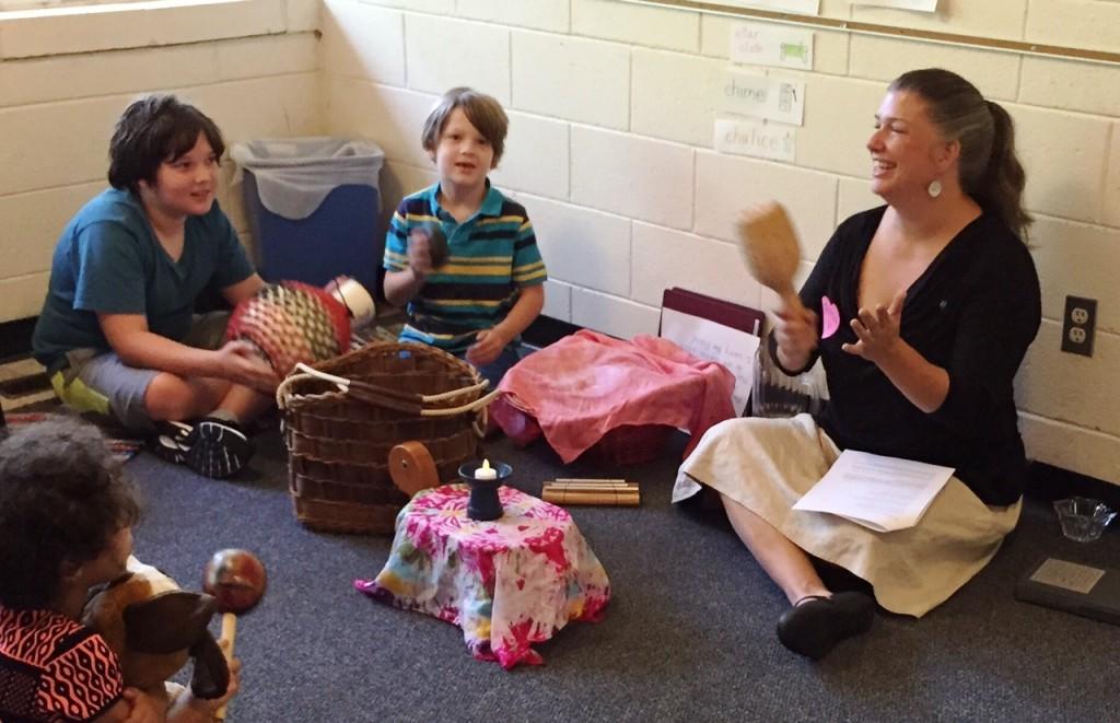 Teresa and kids 2015 RE class