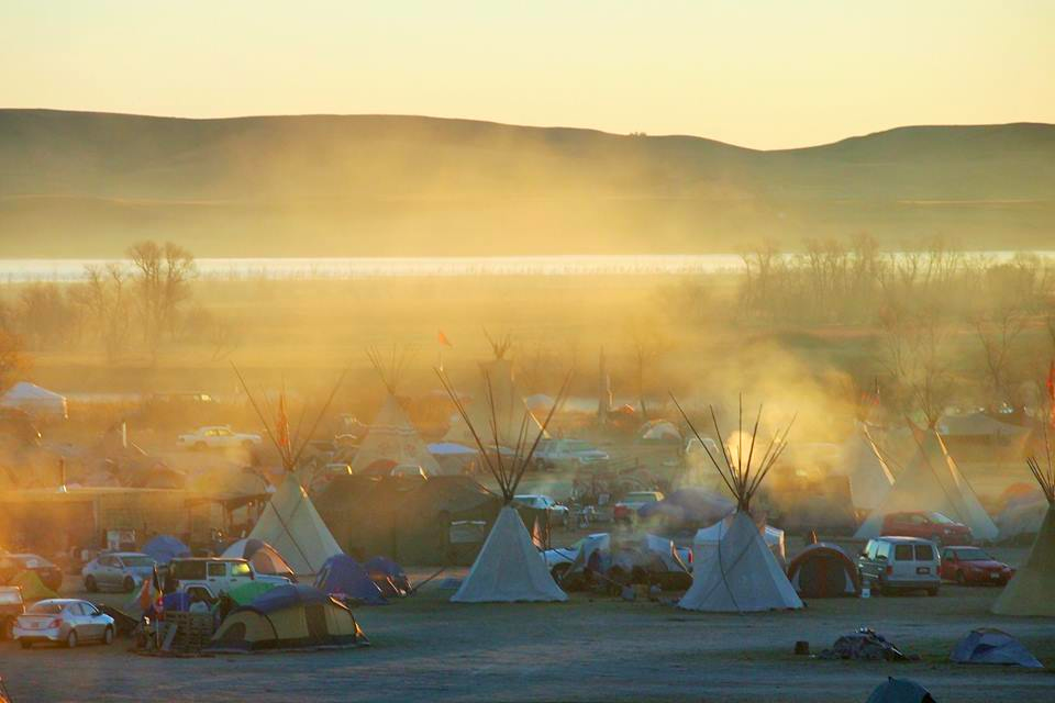 View of camp at Standing Rock