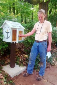 UUFF Free Little Library and Pantry with Cliff Beacham
