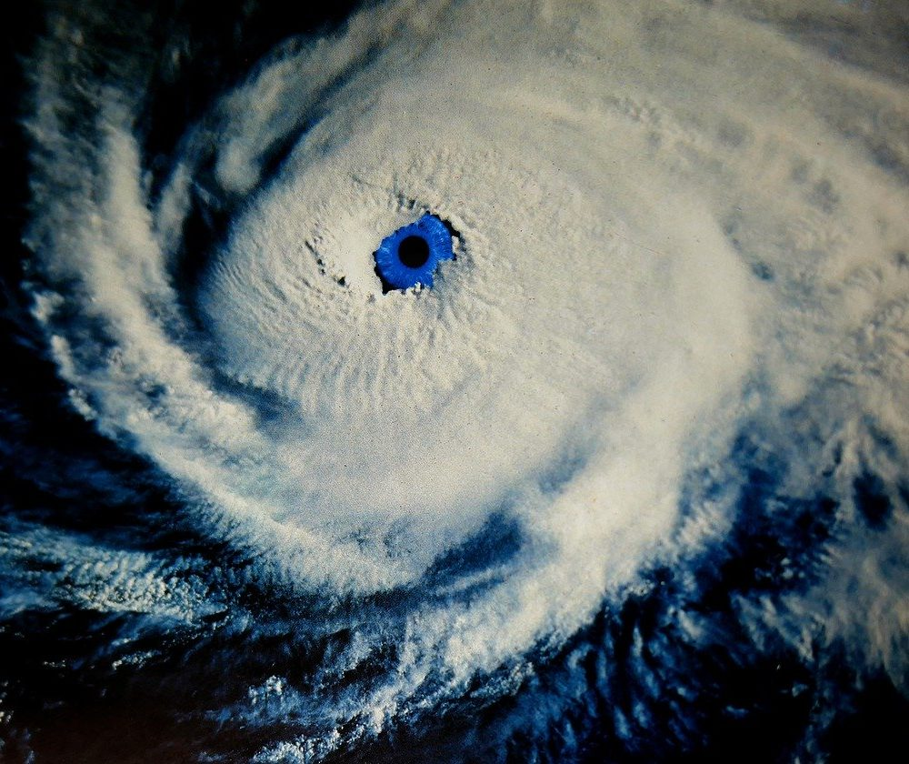 hurricane eye of storm